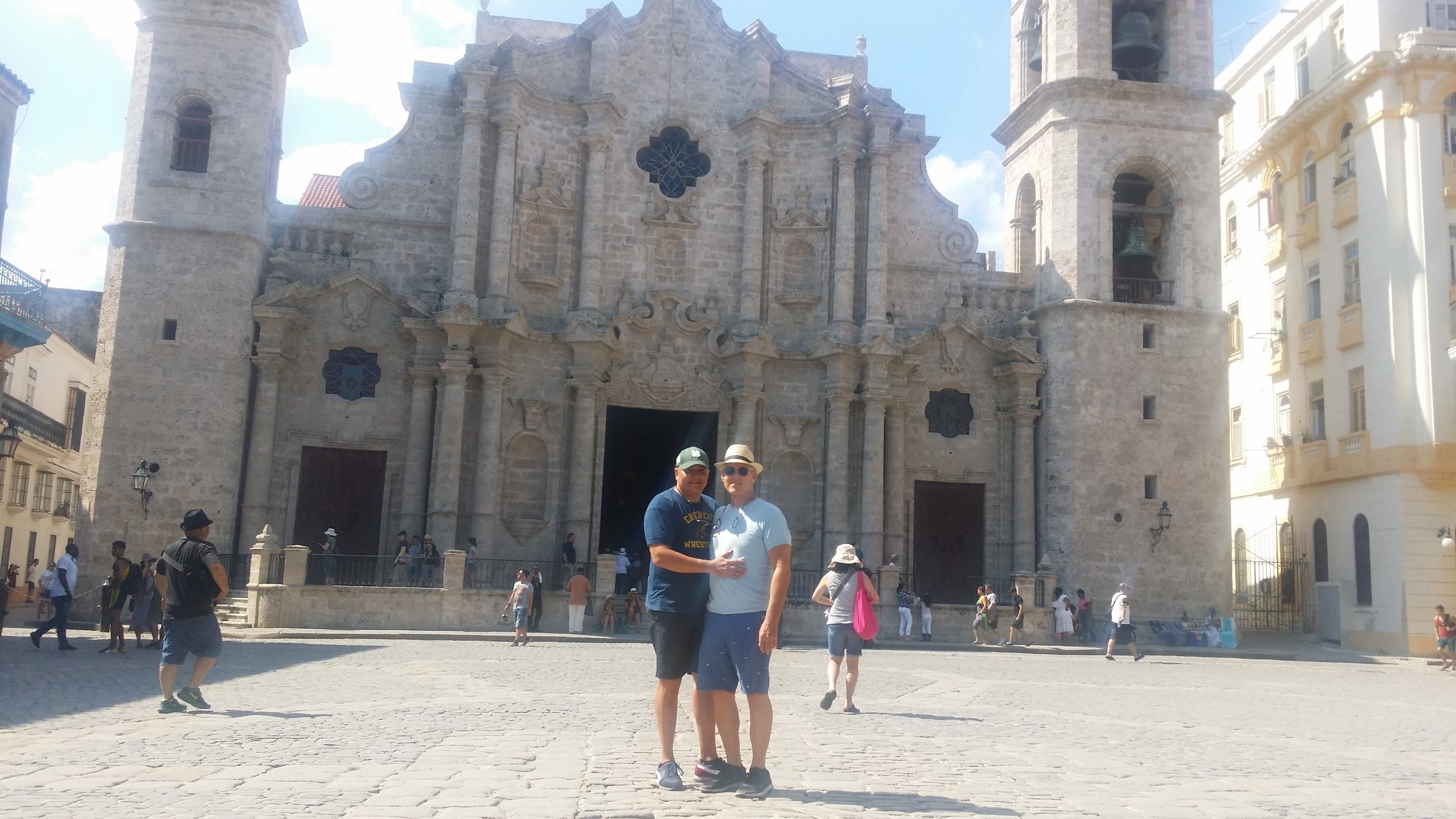 Site seeing in Havana Cathedral Square